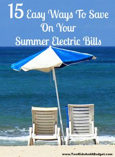 Stay cool this year with these 15 money saving tips while saving on your summer electric bills. Most are so easy you can do them today! www.TwoKidsAndABudget.com