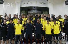 Juillet2008, le FC Sochaux établit ses quartiers à Divonne-les-Bains. Freddy Vandekerkhove et Aziz Bouras étaient déjà de l'aventure. Photo d'archives Lionel VADAM