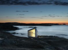 The raging, unpredictable waters surrounding Fogo Island matches the stark and dramatic nature of its single architectural inhabitant, the Squish Studio. Just outside the small town of Tilting in Newfoundland, Canada.