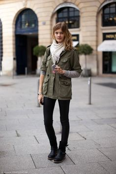 love this look, but with my JCrew waxed utility jacket.