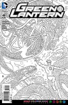 DC Comics - Green Lantern (2011) #48 - Coloring Book Variant Cover
