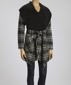 Take a look at this Black & Gray Plaid Jacket by Ryu on #zulily today!59
