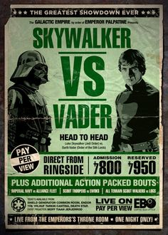Fight Night! Father vs Son! Vader vs Skywalker