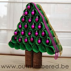 Toilet paper roll #Christmas tree oh the things you can do with empty tp