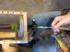 How to hand spin thick and thin yarn Part I, via YouTube.