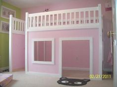How To Build A Playhouse Loft Bed....  Wish I had seen this, and had a house, when Em was little.......