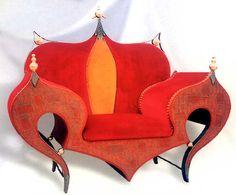 """Fauteuil création - upholstered chair - Francois Troubat, createur mobilier """"P.I."""""""