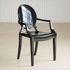 Louis Ghost Chair In Black   Taylor Creative Inc