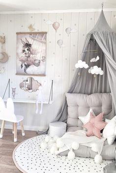 Inspiration from instagram - @mamma.line - pastel girls room ideas, pink and grey girls room design, girls kidsroom, kidsroom decor