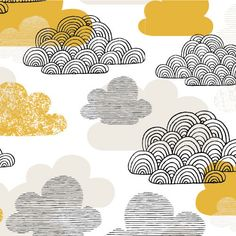 Eloise Renouf Bark and Branch Passing Clouds in Gold Eloise Renouf Bark and Branch Passing Clouds in Gold Fabric for patchwork quilti. Textures Patterns, Fabric Patterns, Print Patterns, Graphic Patterns, Michael Miller, Fabric Design, Pattern Design, Gold Pattern, Textile Design