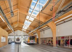 This new fire station for Multnomah County Rural Fire Protection District 10 serves a community of small family farms and nurseries. Taking inspiration from local agricultural buildings, our design layered the subtle rural character of the area over the distinct functions of living and working. We oriented the firefighters' living quarters to face …