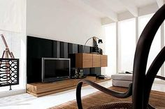 Modern tv wall units furniture modern furniture chic cabinets entertainment unit best unit furniture ideas only Beautiful Living Rooms, Living Room Modern, Interior Design Living Room, Living Room Designs, Room Interior, Tv Design, Modern Tv Wall Units, Modern Hall, Entertainment Furniture