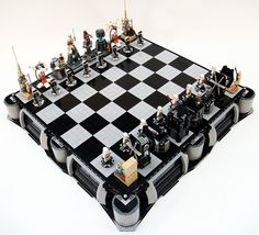 Best Star Wars chess set I've seen (Yep, there are a few out there)