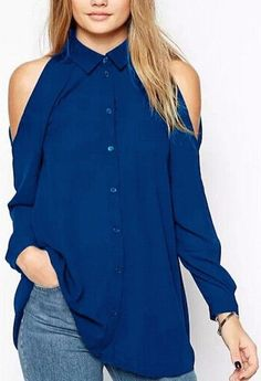 Cheap top quality t shirt, Buy Quality top brand t shirt directly from China top shirt Suppliers: Women off shoulder long shirts sexy chiffon tops turn down collar blouse long sleeve casual plus size Blusas Femininas Blouse Sexy, Black Chiffon Blouse, Chiffon Blouses, Collar Blouse, Chiffon Shirt, Long Blouse, Chiffon Tops, Chiffon Fabric, Black Blouse