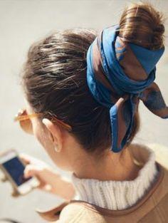 Hair scarves: accessories emerging trend