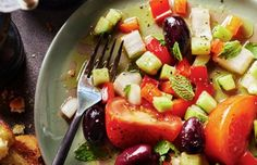 This Portuguese simple salad recipe makes a refreshing tasty salad that sides with almost anything.