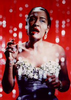 Billie Holiday c. 1950s  Big up to the Queen.