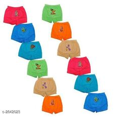 Innerwear Elegant Kid's Innerwear ( Pack Of 12 ) Fabric: Cotton Size: Age Group (0 Months - 3 Months) - 10 in Age Group (3 Months - 6 Months) - 12 in Age Group (6 Months - 9 Months) - 12 in Age Group (9 Months - 12 Months) - 14 in Age Group (12 Months - 18 Months) - 16 in Age Group (18 Months - 24 Months) - 18 in Age Group (2 - 3 Years) - 20 in Age Group (3 - 4 Years) - 22 in Age Group (4 - 5 Years) - 24 in Age Group (5 - 6 Years) - 26 in Age Group (6 - 7 Years) - 28 in Description: It Has 12 Pieces Of Kid's Innerwear's Work: Printed Country of Origin: India Sizes Available: 0-3 Months, 0-6 Months, 3-6 Months, 6-9 Months, 6-12 Months, 9-12 Months, 12-18 Months, 18-24 Months, 0-1 Years, 1-2 Years, 2-3 Years, 3-4 Years, 4-5 Years, 5-6 Years, 6-7 Years   Catalog Rating: ★4.1 (5160)  Catalog Name: Fable Elegant Kid's Innerwear Sets Vol 20 CatalogID_385973 C59-SC1187 Code: 452-2842023-465
