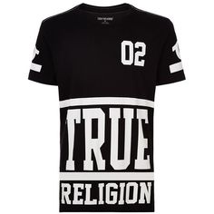 True Religion Starter Graphic T-Shirt ($94) ❤ liked on Polyvore featuring men's fashion, men's clothing, men's shirts and men's t-shirts