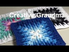 Knitting Patterns granny squares Stitch of the Week # 91 Mosaic Granny Square - Crochet Tutorial Granny Square Crochet Pattern, Afghan Crochet Patterns, Crochet Squares, Crochet Granny, Baby Knitting Patterns, Crochet Motif, Crochet Stitches, Crochet Hats, Granny Squares