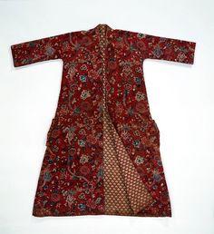cotton, centuri men, cloth, 18th centuri, banyan, 1700s, gown, india, japanese kimono