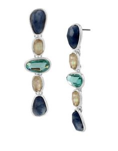 Robert Lee Morris Soho Cool As Ice Sodalite Linear Drop Earrings Women