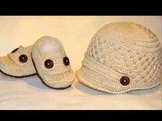 touca de croche para bebe, enjoy all your videos online and create your lists of favorite tracks Crochet Baby Bonnet, Crochet For Boys, Newborn Crochet, Crochet Baby Booties, Mode Crochet, Crochet Cap, Crochet Stitches Patterns, Crochet Patterns For Beginners, Crochet Videos