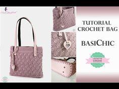 TUTORIAL CROCHET BAG   BASICHIC   WITH SUB   PUNTO MADELINE   UNCINETTO D'ARGENTO & NINA HANDMADE - YouTube