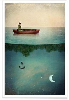Entering Dreamland als Premium Poster von Catrin Welz-Stein | JUNIQE