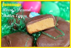 Homemade Reese's Peanut Butter Eggs | Six Sisters' Stuff