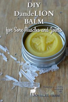 DandeLion balm is skin nourishing and useful for easing sore muscles, chapped skin, joint pain, headache, chest congestion, and other common complaints. Dandelion balm is nourishing and protective. You need this Lion Balm in your home apothecary to roar against pain and inflammation.