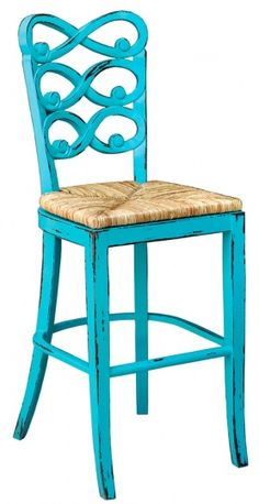 Steven Shell - this bar stool chair can be ordered in the green we like :)