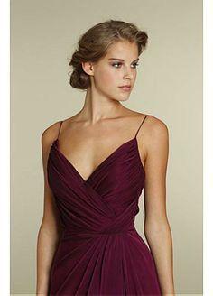 Gorgeous Chiffon Full Length Bridesmaids Dress