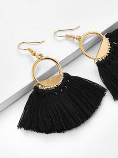Shop Fringe Tassel Drop Earrings online. SheIn offers Fringe Tassel Drop Earrings & more to fit your fashionable needs.