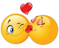 Kissing smileys