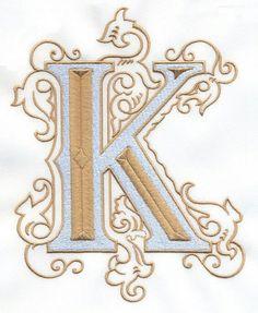Vintage Royal Alphabet & Accent Designs letter K Alphabet Design, Alphabet Art, Calligraphy Letters, Typography Letters, Illuminated Letters, Illuminated Manuscript, Abc Letra, Embroidery Letters, Typographic Logo