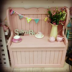 bench painted in Antoinette..