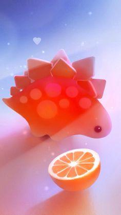 Free Stegosaurus Dinosaur Picture for Cute Animal Drawings, Cute Drawings, Anime Animals, Cute Animals, Illustration Art, Illustrations, Cute Dinosaur, Cute Creatures, Kawaii Cute