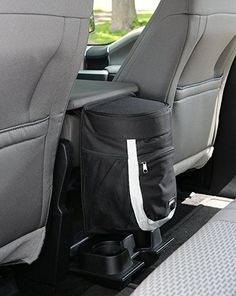 Amazon.com: Clean Ridez Garbage Can for Cars with Ez Flip Lid & Vinyl Leakproof and Removable Liner - Highly Rated Car Trash Bag with Bottle Holders and Extra Storage Pocket - (Gray/black): Automotive