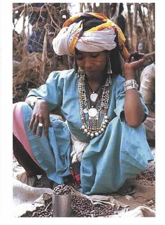 Africa | Oromo Woman Coffee Seller, Ethiopia | postcard features the work of Carol Beckwith and Angela Fisher in a study of the women of the Horn of Africa, Ethiopia and the surrounding countries