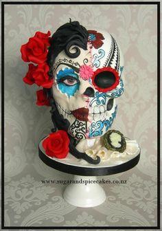 Fabulous cake! Maya - Dia de los Muertos - Sugar Skull Bakers 2014 - Cake by Mel_SugarandSpiceCakes