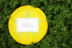 Fun things to send in the mail: frisbee!