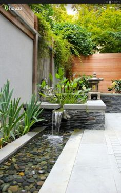 35 Beautiful Mini Zen Garden Design Ideas A zen garden may al. 35 Beautiful Mini Zen Garden Design Ideas A zen garden may also include a very simple bridge or path . Backyard Water Feature, Ponds Backyard, Backyard Landscaping, Landscaping Ideas, Backyard Designs, Backyard Ideas, Backyard Patio, Waterfall Landscaping, Patio Pond
