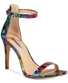 Inc International Concepts Women's Roriee Two-Piece Sandals, Only at Macy's - Snake Multi 10.5M