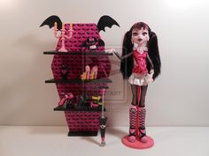Monster High Furniture Draculaura Batwing Shelves by monsterminicustoms.deviantart.com on @deviantART