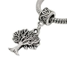 Amazon.com: Tree Charm Dangle Bead Pandora Troll Chamilia Biagi Bead Compatible: Jewelry