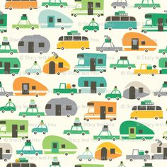 camping- if this is a fabric sample . I want it!!!