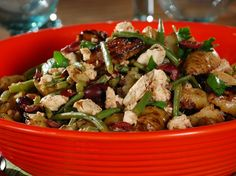 So Yum!!   Grilled Fingerling Potato Salad Recipe with Feta, Green Beans and Olives from FoodNetwork.com  Bobby Flay recipe   Grill Recipes BBQ Recipes FOOD PORN Appetizer Side Dish  Snack Entrée I   RECIPES  HEALTHY RECIPES  HEALTHY FOOD  HEALTHY COOKING  COOKING   Paleo Diet Paleo Recipes #recipes #healthy #cooking