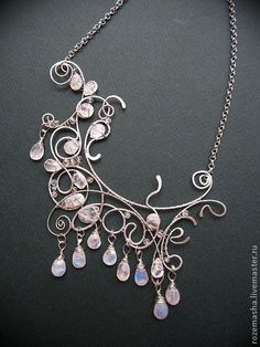 Necklaces, handmade beads. Fair Masters - handmade. Buy Necklace Moon at apogee. Handmade. Silver, iridescence