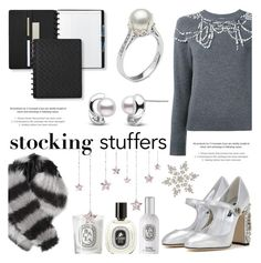 """""""Gift Guide: Stocking Stuffers"""" by pearlparadise ❤ liked on Polyvore featuring Dries Van Noten, Dolce&Gabbana, Levtex, StyleNanda, Charlotte Simone, Diptyque, giftguide, contestentry, pearljewelry and pearlparadise"""